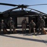 332 ESGF  K9 getting ready for training mission 4-2009