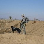 Gatti & Fedro checking for IED's