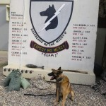MWD in front of 332 ESFG K9 Sign at JBB