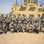 SSgt DeMarte & MWD Arco with fellow squad members 2010