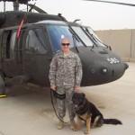 SSgt Kristin Smith & MWD Cezar at JBB Iraq 5-2009
