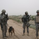 SSgt Mendoza & MWD Rico after an IED was blown up 5-2009
