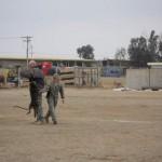 Trainer Carlson MWD Rambo & handler Smith