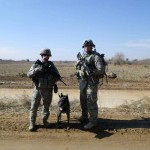 handler & trainer on patrol