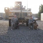 handlers & MWD's with armored vehicle
